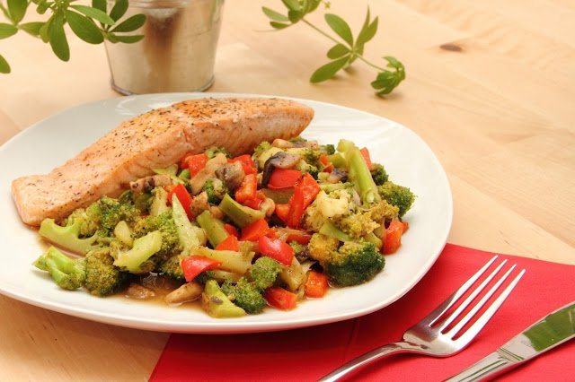 Lachs mit Broccoli