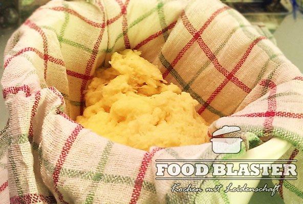 Kartoffeln im Küchentuch