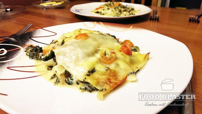 Vegetarische Lasagne mit Gorgonzola