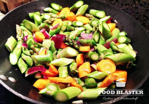 Gemüsepfanne braten
