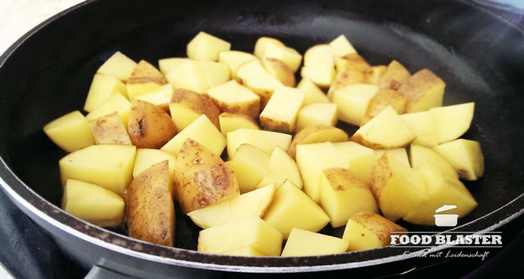 Kartoffeln in Pfanne