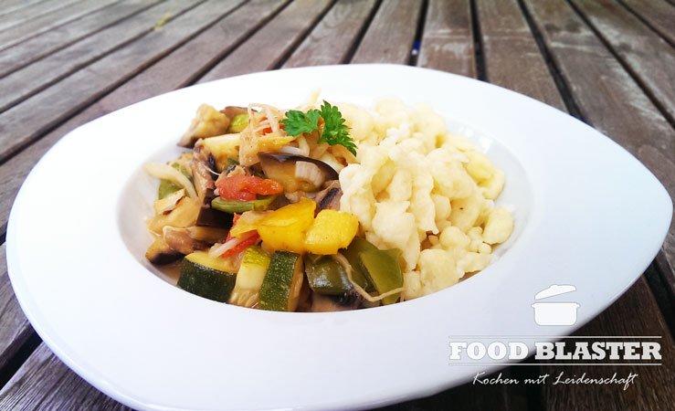 Thai-Curry mit Spätzle