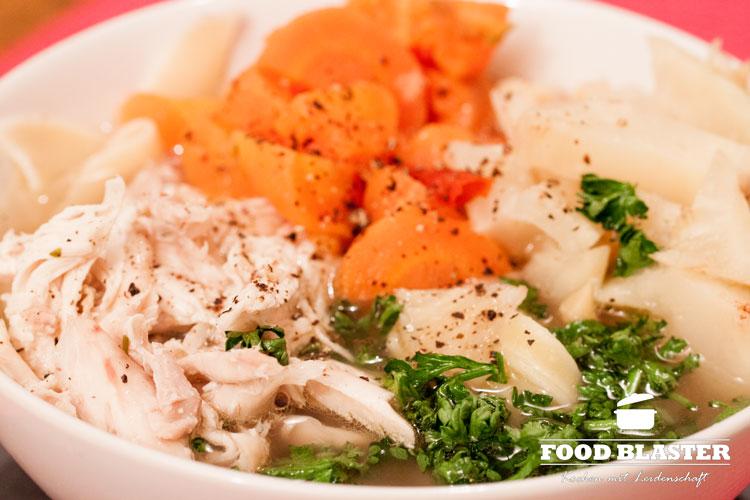 Hühnersuppe selber kochen