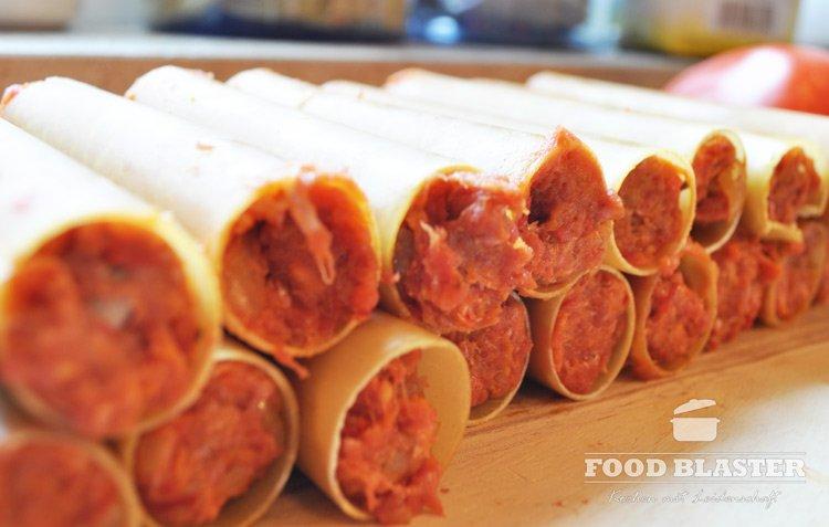 Cannelloni füllen
