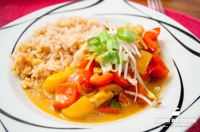 Hähnchencurry mit Reis