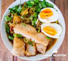 Asiatsiche Suppe mit Wels