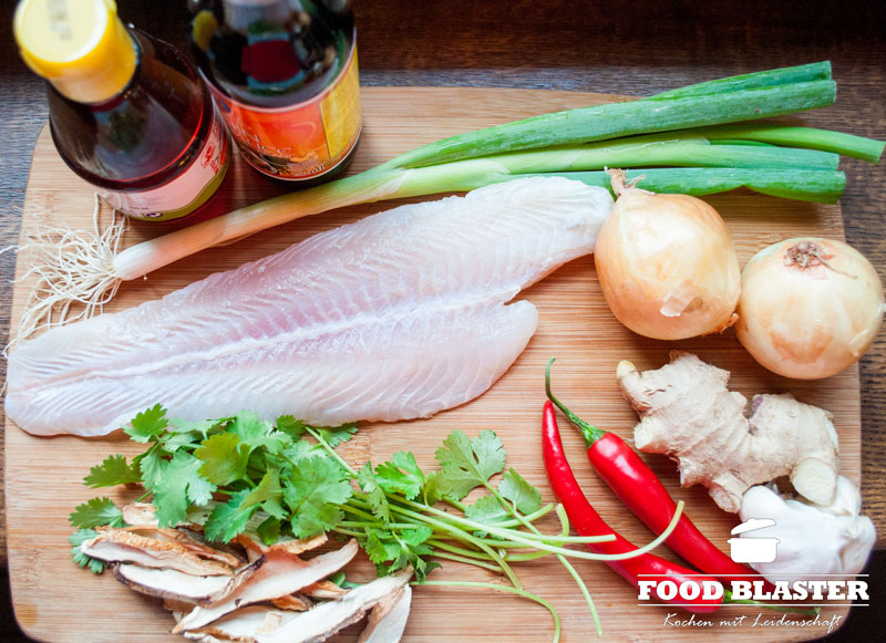 Asiatische Zutaten für Suppe