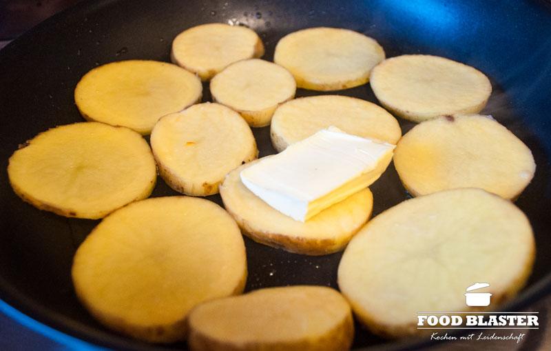 Bratkartoffeln für Auflauf