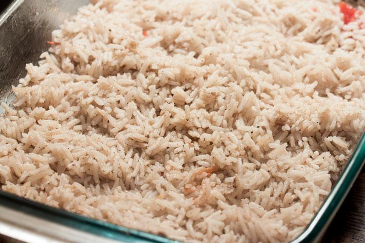 Reis für Auflauf