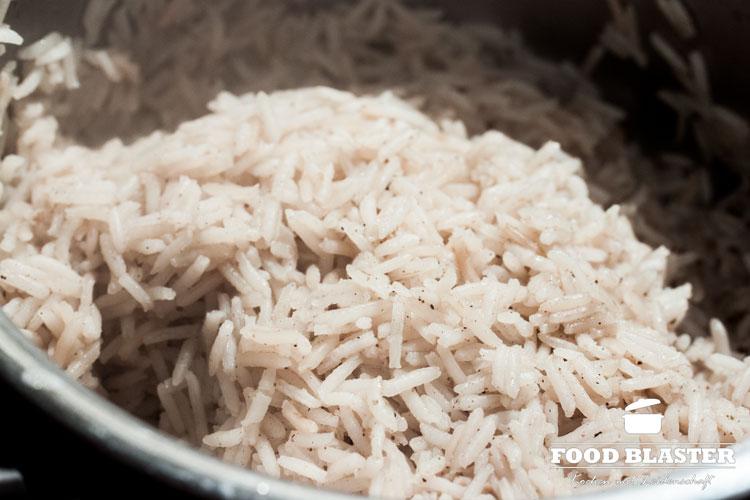 Reis kochen für Rindfleisch Auflauf