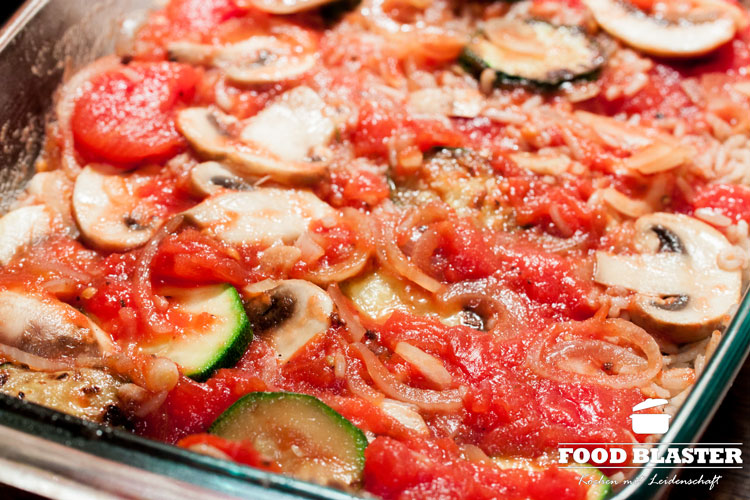 Gemüse mit Tomatensoße