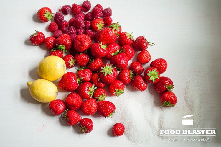 Früchte mit Gelierzucker