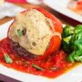 Gefüllte Paprika mit Fleisch und Reis
