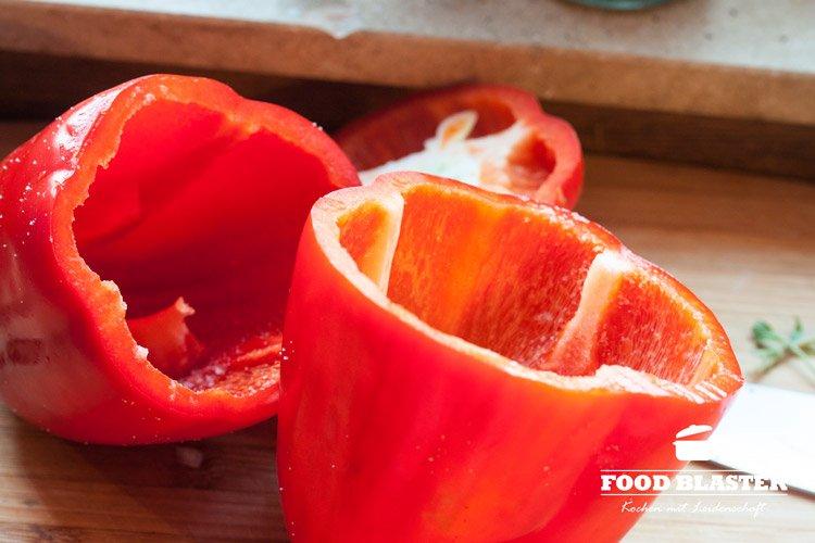 Paprika aushüllen